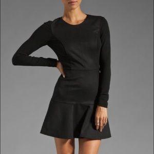 Theory long sleeve flare hem Nagida elite dress